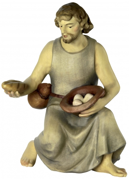 Shepherd kneeling with Bread