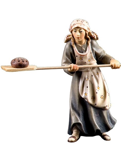 Farmer's wife with bread-shovel