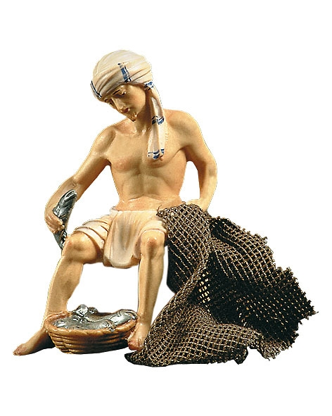Fisher sitting (without wooden box)