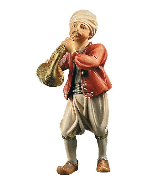 Musician with horn