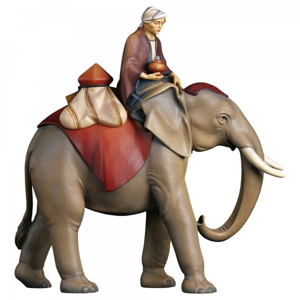 Elephant with rider and jeweilsaddle - 3 pcs.
