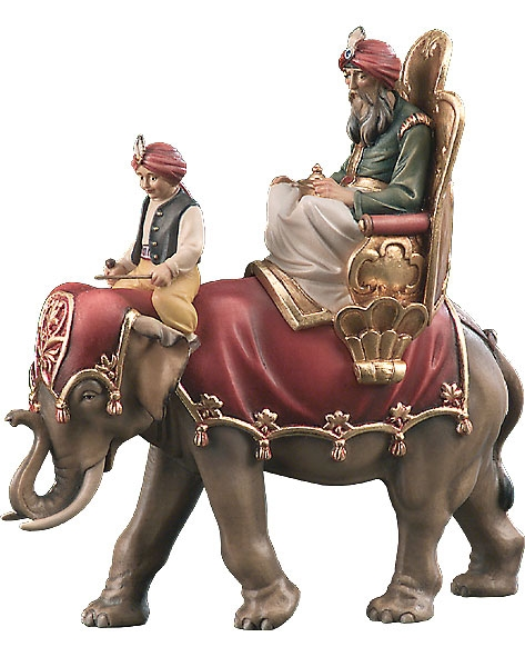 Wise man with elephant and driver