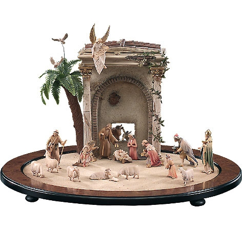 Nativity Stable by Lepi - Oval with Temple