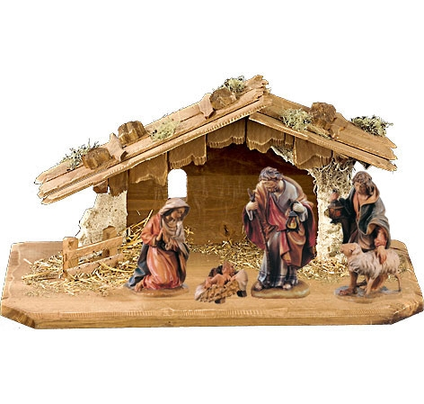 Nativity Set - 5 pcs. incl. stable