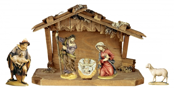 Nativity Set - 6 pcs. incl. stable