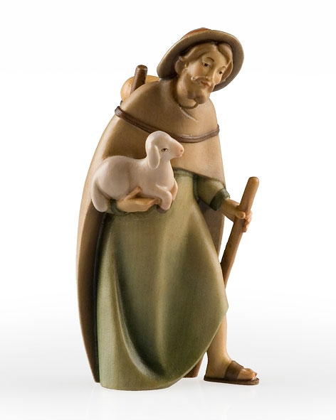 Shepherd with lamb