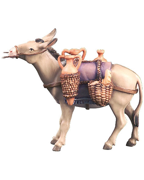 Donkey with water and bread load