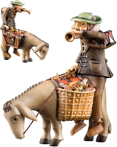 Toys hawker with donkey