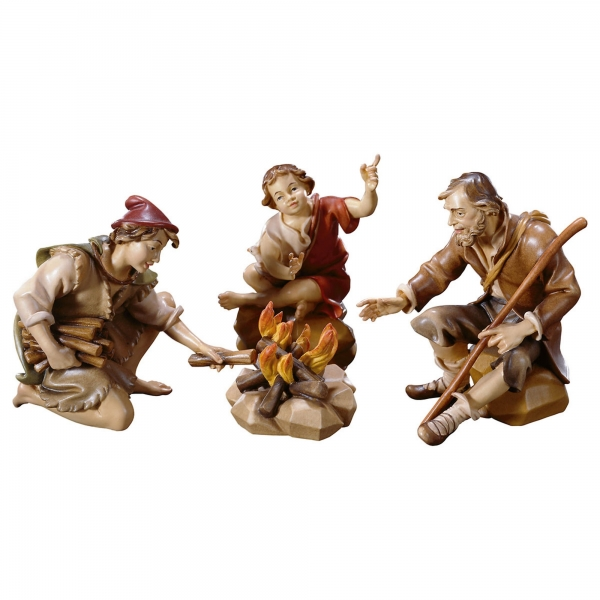 Herders group at the fireplace - 4 pcs.