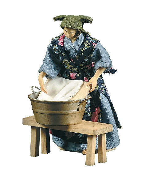 Washerwoman with basin