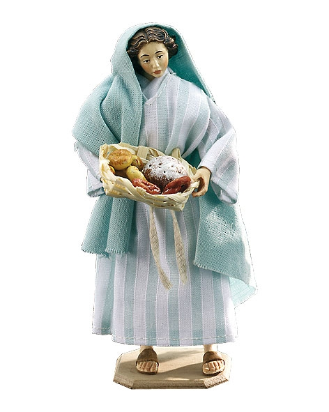 Woman with bread basket